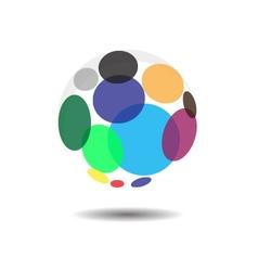Circular Bubble Logo Icon Concept vector image