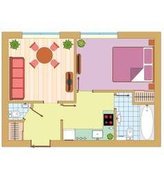 Apartment drawing vector
