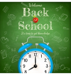 Back to school with alarm clock eps 10 vector