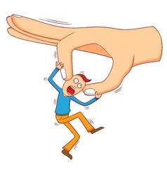 Bad big hand vector