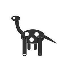 Black icon on white background giraffe toy vector