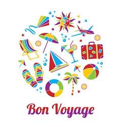Bon voyage card vector