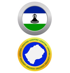 button as a symbol LESOTHO vector image