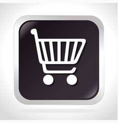 Cart shopping isolated icon vector