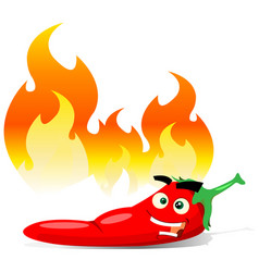Cartoon red hot chili pepper vector