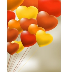 Copula of red gel balloons of a heart EPS 8 vector image vector image