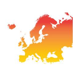 europe map colorful orange vector image