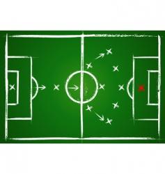 football positions teamwork vector image
