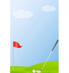 golf stick and golf ball vector image vector image
