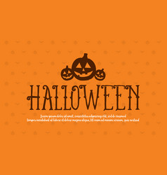 halloween collection background style design vector image vector image