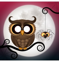 Halloween holiday crazy owl vector
