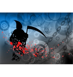halloween reaper on the background vector image vector image