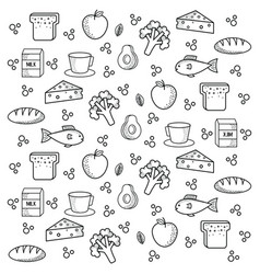 Healthy food pattern vector