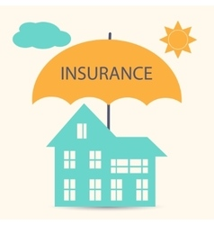 House insurance vector image