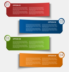 Information options tags design element vector