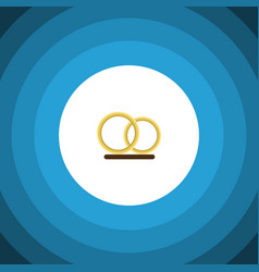 Isolated engagement flat icon ring element vector
