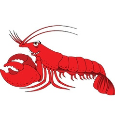 Lobster cartoon vector image vector image