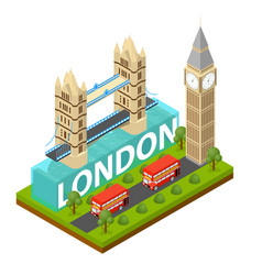 london city famous landmark of capital england vector image vector image