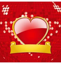 love heart shield vector image vector image