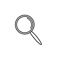 modern magnifier icon vector image vector image