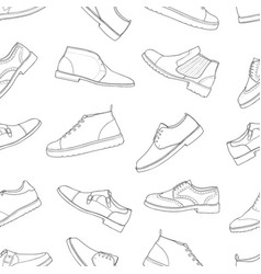 monochrome seamless pattern with different kinds vector image