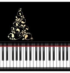 Musical christmas template vector