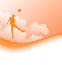 playing football vector image vector image