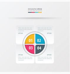 rectangle presentation design yellow blue pink vector image vector image