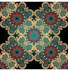 Seamless paisley mandala abstract pattern tiled vector