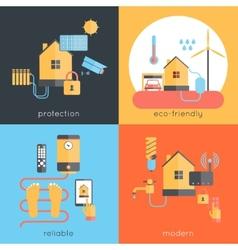 Smart home flat vector