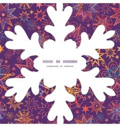 Textured christmas stars christmas snowflake vector
