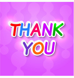 Thank you plaque on a purple background vector