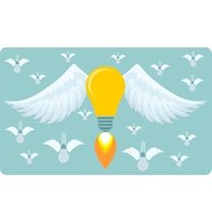 The birth of idea a great idea vector image
