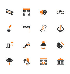 theater icons set vector image