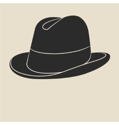 Tweed hat label vector