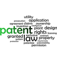 word cloud patent vector image vector image