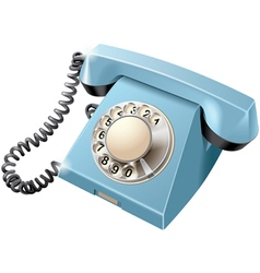 Vintage rotary dial telephone vector