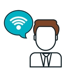 Wifi connection sign isolated icon vector