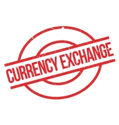 Currency Exchange rubber stamp vector image