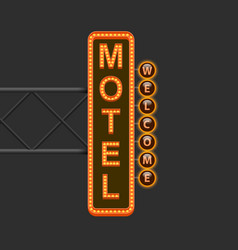 Street sign of the motel vector