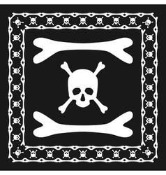 Skull and bones pattern brush with corner vector