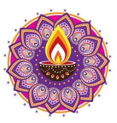 Indian floral decorative design vector