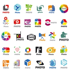 Biggest collection of logos for the photographer vector