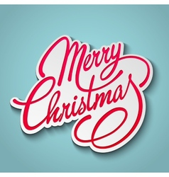 Merry christmas lettering retro design vector