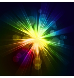 Abstract starburst light background vector