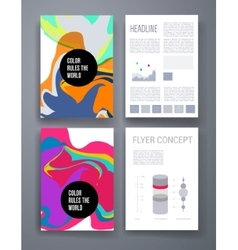 Colorful stains bright cards or pages layout vector