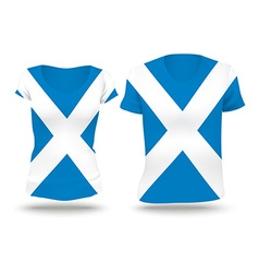 Flag shirt design of scotland vector