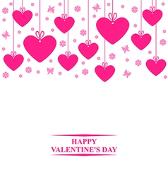 Hearts card hang vector