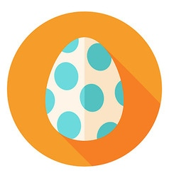 Easter egg with big dots decor circle icon vector