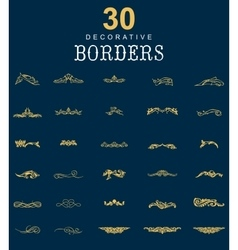 Borders and dividers decorative vector